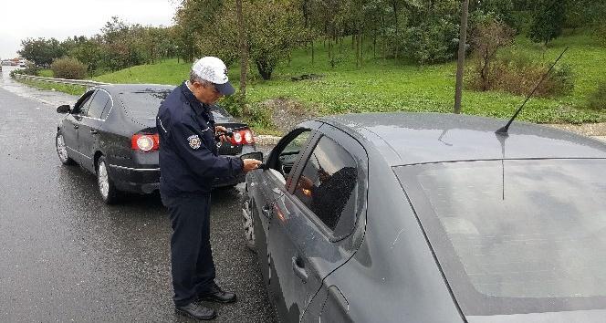 Polisten drone ile trafik denetimi