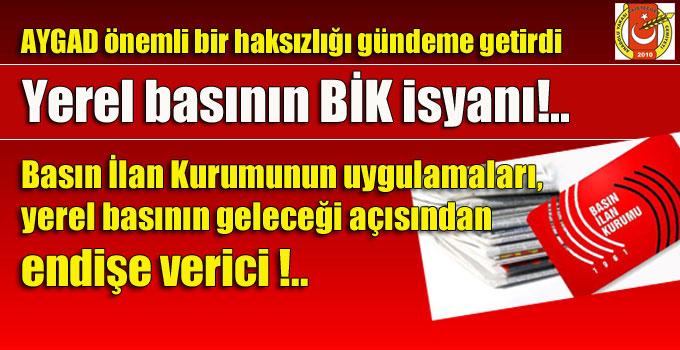 Yerel basının BİK isyanı!..