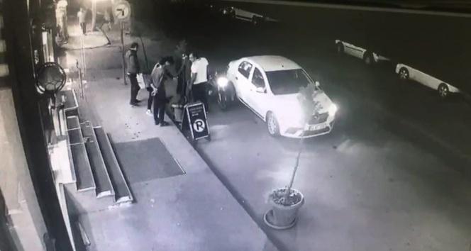 Sağduyunun galip geldiği kaza kamerada