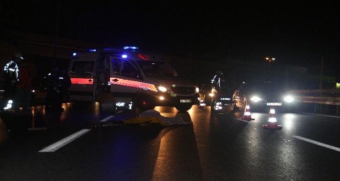 E-5'te motosiklet kazası: 1 ölü, 1 yaralı