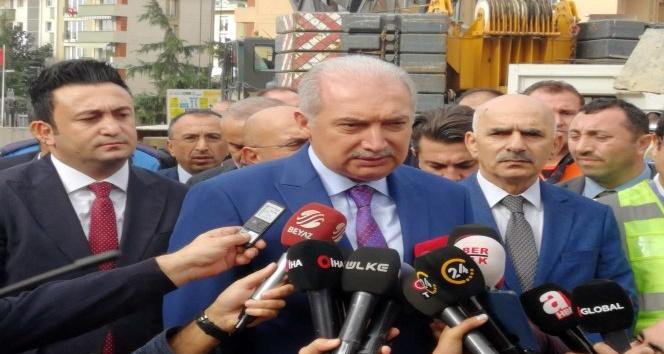 İBB Başkanı Mevlüt Uysal, göçük alanında inceleme yaptı