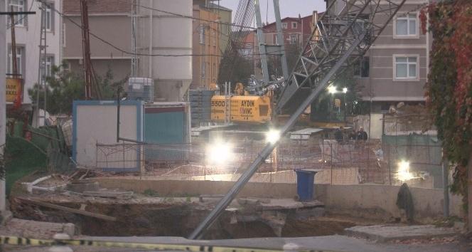 Ümraniye'de çöken metro inşaatında 1 kişinin yeri tespit edildi