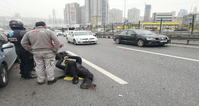 E-5'te trafiği kilitleyen kaza:1 yaralı