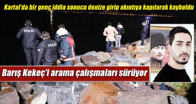 Kartal'da bir genç iddia sonucu denize girip akıntıya kapılarak kayboldu