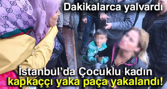 Çocuklu kadın kapkacçıyı vatandaşlar yakaladı
