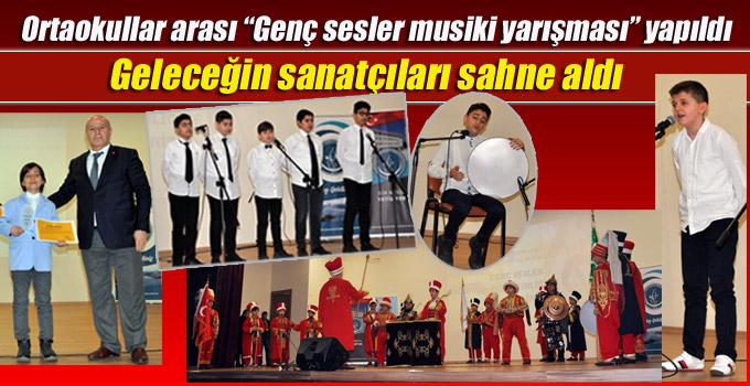 """Ortaokullar arası """"Genç sesler musiki yarışması"""" Kartal'da yapıldı"""