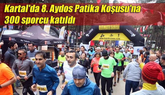 Kartal'da 8. Aydos Patika Koşusu'na 300 sporcu katıldı