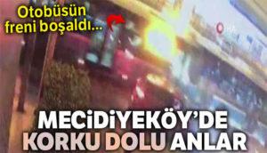 Mecidiyeköy'de kaza anı kameralarda