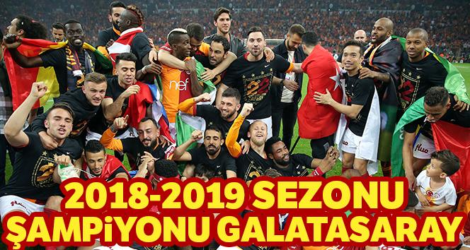 Süper ligin şampiyonu Galatasaray oldu!