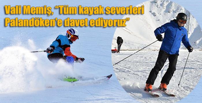 """Vali Memiş, """"Tüm kayak severleri Palandöken'e davet ediyoruz"""""""