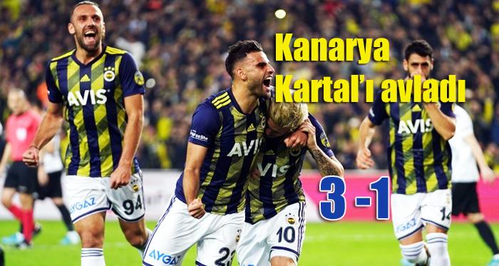 Fenerbahçe, Beşiktaş'ı Kadıköy'de 3-1 mağlup etti