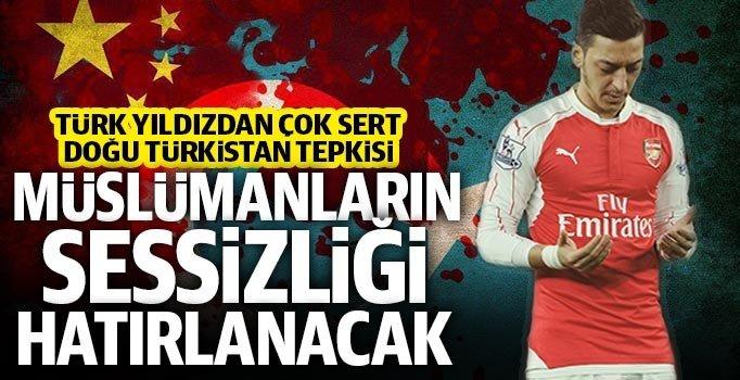 Yıldız futbolcu Mesut Özil'den, Doğu Türkistan'daki zulüme sert tepki