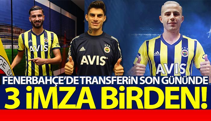 Fenerbahçe'de transferin son gününde üç imza birden!