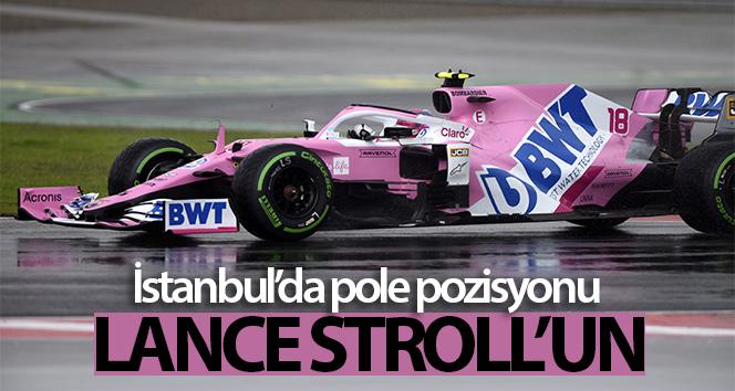 İstanbul'daki Formula 1 DHL Türkiye Grand Prix 2020'nin pole pozisyonu Lance Stroll'un