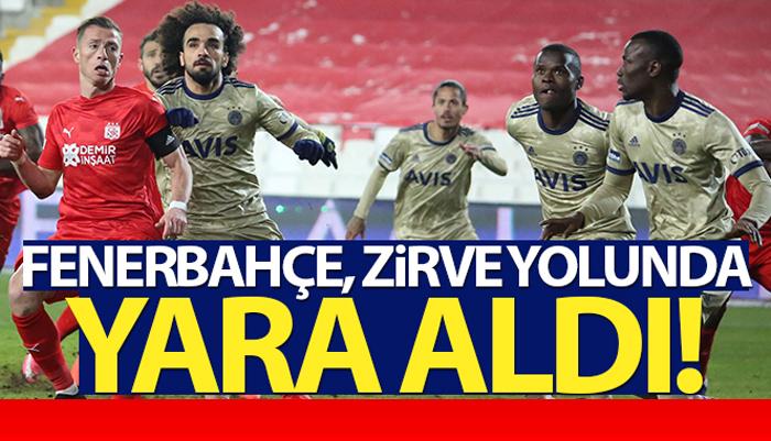 Fenerbahçe, Sivas'ta bir puanı zor kurtardı
