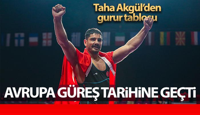 Taha Akgül, Serbest Stilde En Fazla Avrupa Şampiyonu Olan Güreşçi Ünvanına Sahip Oldu